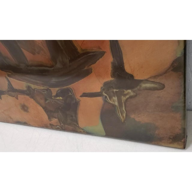 Abstract Silvio Giovenetti (20th C.) Mid Century Modern Abstract Acid Etched Stainless Steel C.1971 For Sale - Image 3 of 9