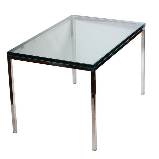 Mid-century Brueton Stainless Steel Side Table - Image 1 of 5