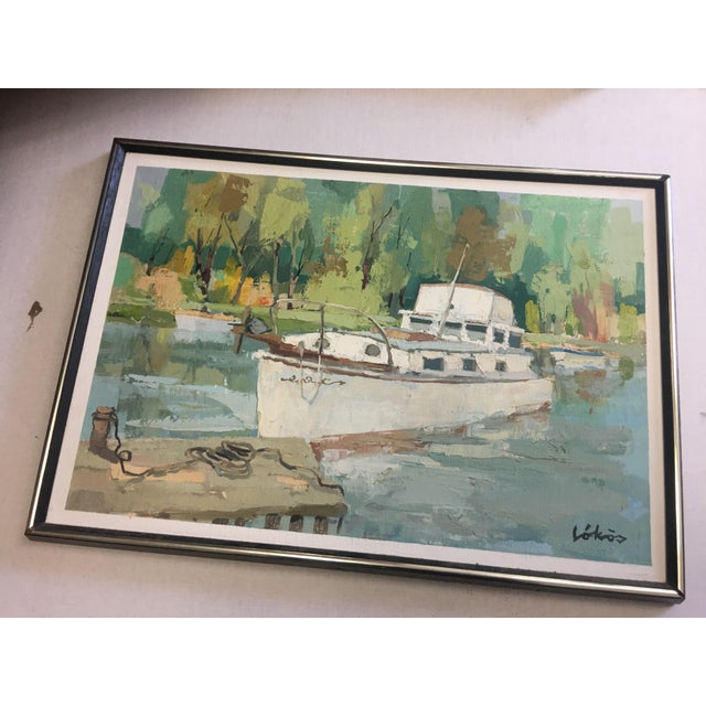 Stefan Lokos Boat At the Marina Painting - Image 2 of 11