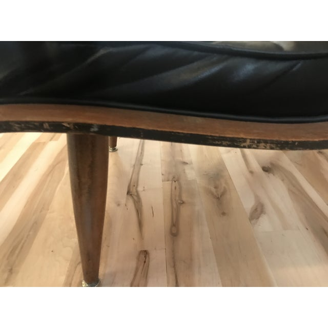 1960s Vintage Carter Brothers Black Scoop Chair For Sale - Image 9 of 11