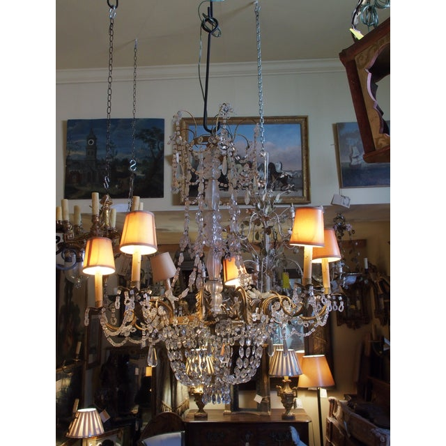 19th Century French Crystal Chandelier For Sale - Image 9 of 11