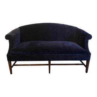 Vintage Reupholstered Kittinger Chippendale Style Loveseat Sofa For Sale