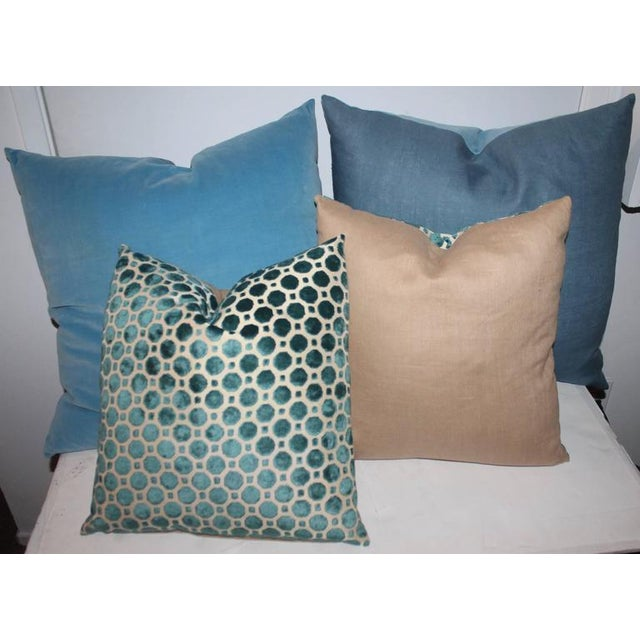 Contemporary Amazing Vintage Patterned Velvet Pillows For Sale - Image 3 of 4