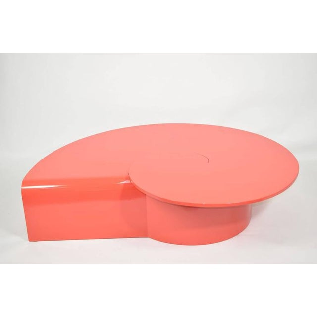 Modern Fabulous Statement Coffee Table in Red/Orange Lacquer For Sale - Image 3 of 9