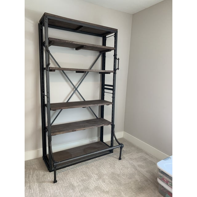 2 Near new Restorartion Hardware French Library Single Shelving book cases. A reproduction. Of a mid-1940 Eastern European...