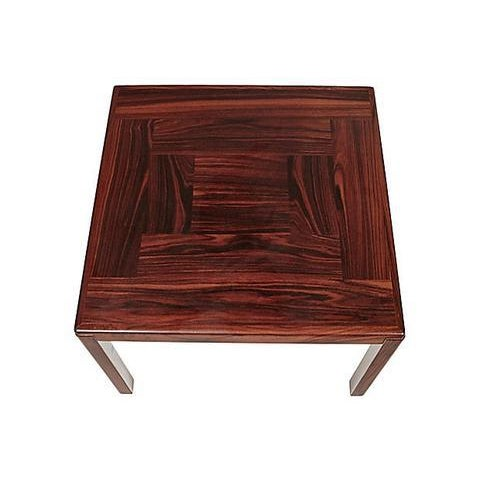 Brazilian rosewood side table made in Denmark by Vejle Stole & Møbelfabrik, circa 1960s. Excellent condition. Marked.