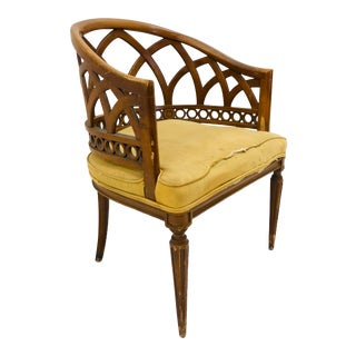 Vintage Hollywood Regency Dorothy Draper Style Chair For Sale