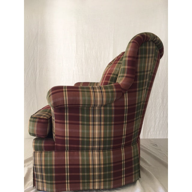 Sherrill Plaid Accent Chair For Sale In Chicago - Image 6 of 8