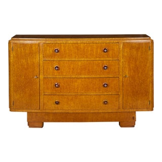 Antique Circa 1940s Art Deco Period Console Cabinet Sideboard by Jean Fauré For Sale