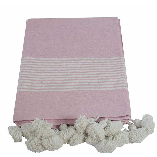 A NEW DESIGN for our Pom Pom Blanket Collection! Our founder Katia design this beautiful hand-woven Moroccan pom pom...