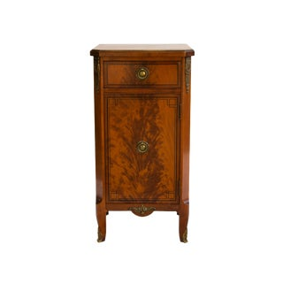 Slim Nightstand in Flame Mahogany by Robert W. Irwin For Sale