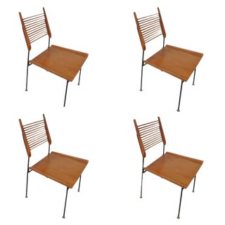 Set of Four Vintage Mid-Century Paul McCobb Shovel Dining Chairs For Sale