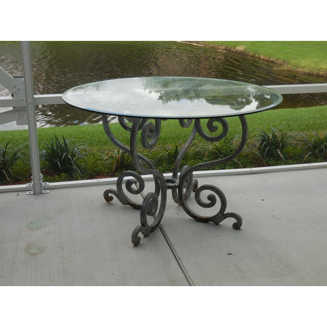 Vintage Palm Beach Iron Table - Image 3 of 11