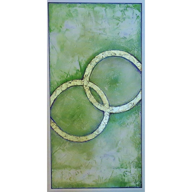 Framed Infinity Series Mixed Media Painting - Image 1 of 5