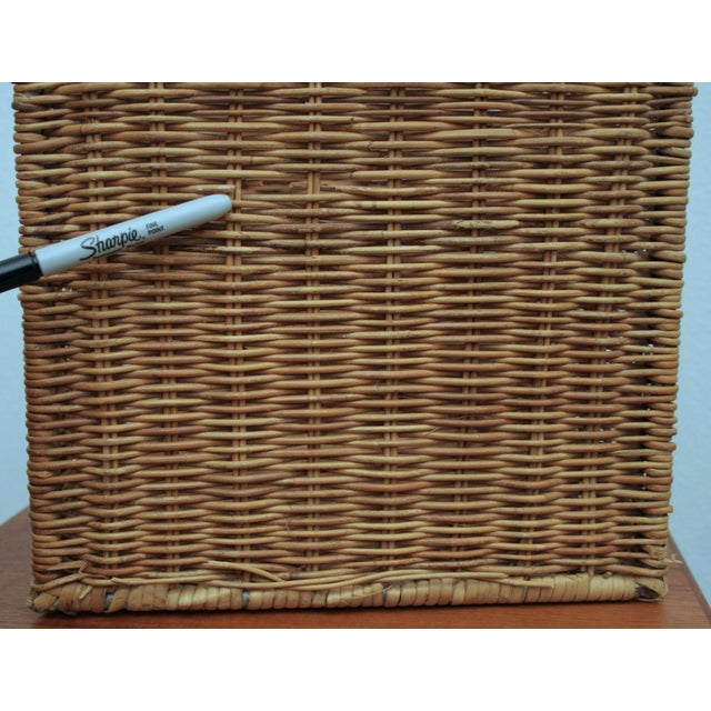 Modernist Wicker Cube Planter / Side Table For Sale - Image 9 of 13