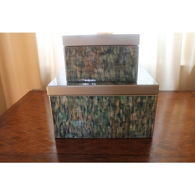 Peruvian Reverse Glass Boxes - a Pair For Sale - Image 13 of 13