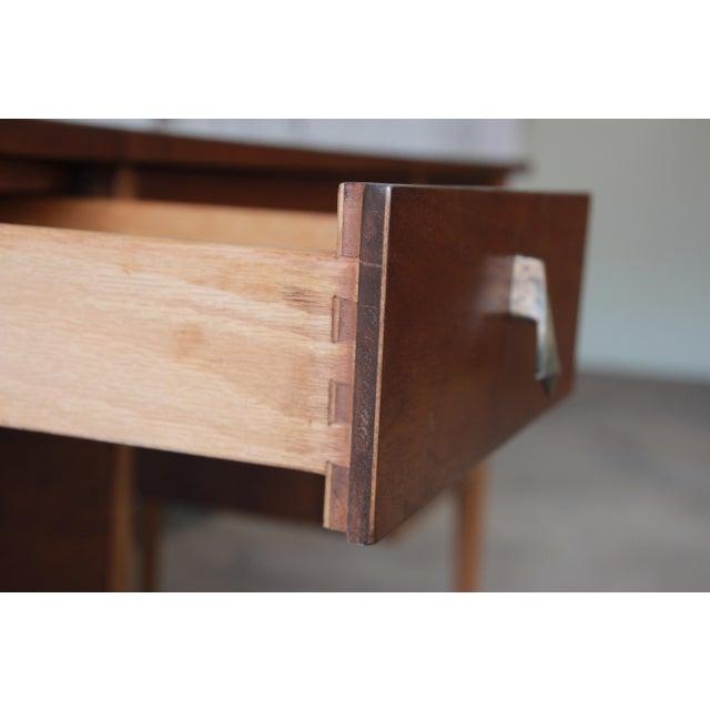 Broyhill Brasilia Mid-Century Modern Sculpted Walnut Desk For Sale - Image 12 of 14