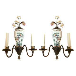 Mid 19th Century Antique Chinese Export Sconces - A Pair For Sale