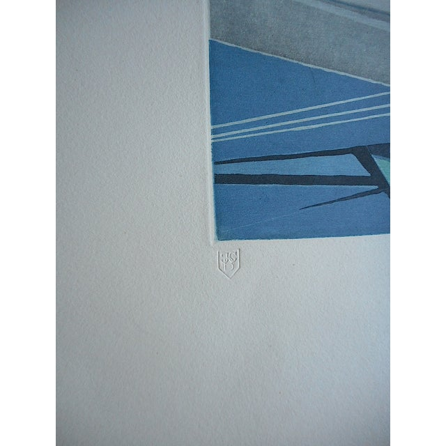 Mid 20th C. Modern Sailboats Etching - Image 5 of 5