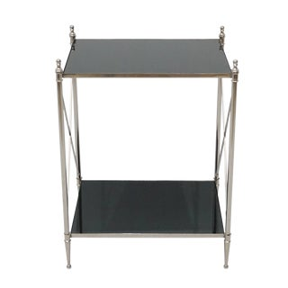 Wade Accent End Table With Bottom Shelf, Modern Style End Table for Living Room For Sale