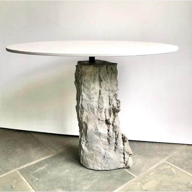 Organic Modern Concrete Terrazzo Accent Table For Sale - Image 6 of 6