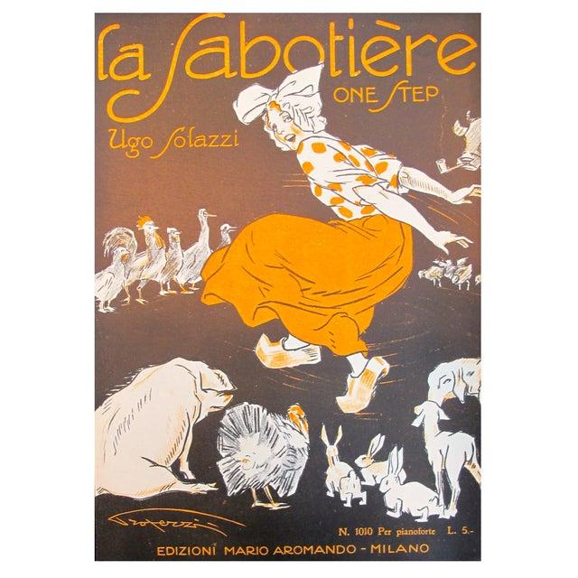 1925 Italian Music Sheet La Sabotiere For Sale