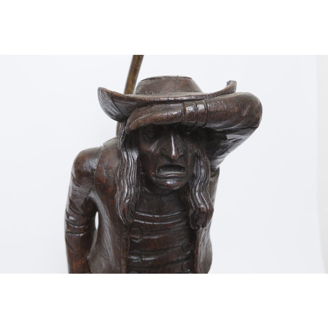 Wood Carving of a Man - Lamp - Image 4 of 6