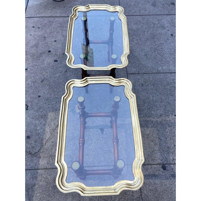 Mid 20th Century Vintage Gilded Moroccan End Table Pair For Sale - Image 5 of 10