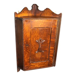 1800s Art Nouveau Victorian Hanging Corner Cupboard For Sale