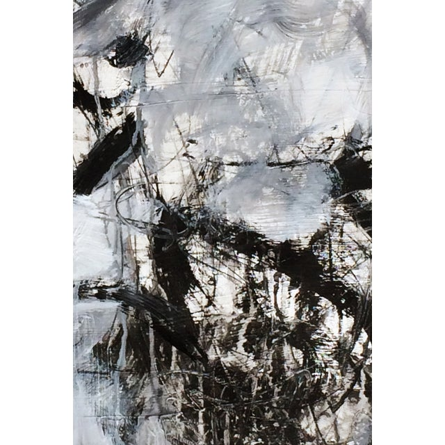 Abstract Painting on Paper - Untitled - Image 2 of 2