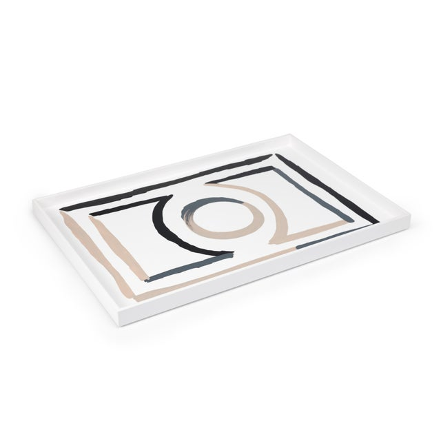Luke Edward Hall Collection Large Etienne Tray in Bright White For Sale - Image 4 of 4