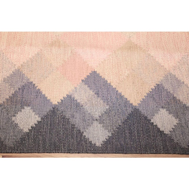 Vintage Swedish Kilim Rug by Britta Swefors - 6′6″ × 9′3″ For Sale In New York - Image 6 of 9