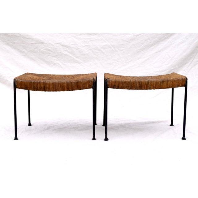 Arthur Uminoff Iron Benches - a Pair - Image 11 of 11