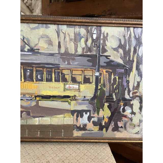 1954 Modernist Figurative Oil Painting by Louis Safer, Framed For Sale - Image 9 of 12