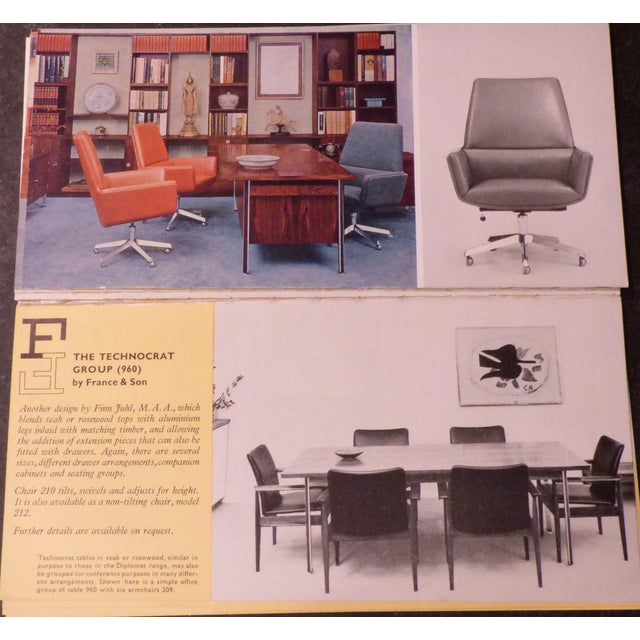 1960s Vintage Finn Juhl for France and Son Designed Executive Chair For Sale - Image 11 of 12
