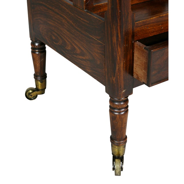 Early 19th Century Regency Rosewood and Faux Rosewood Canterbury For Sale - Image 5 of 9