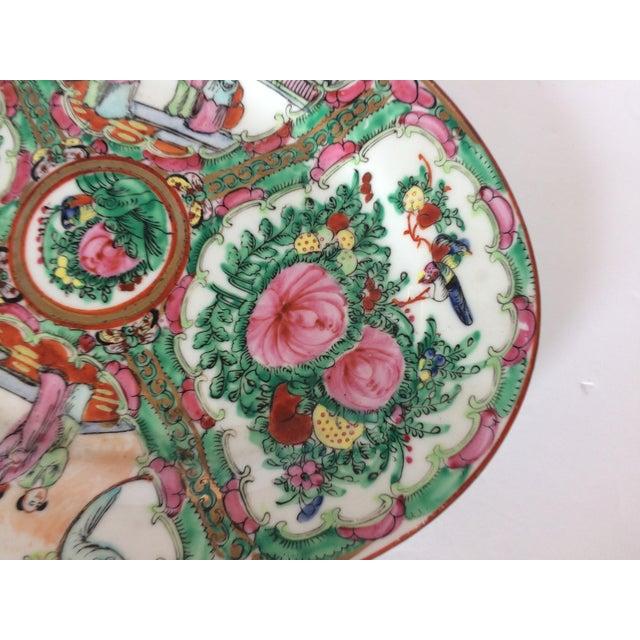 1950s Rose Medallion Oval Serving Dish For Sale - Image 5 of 6
