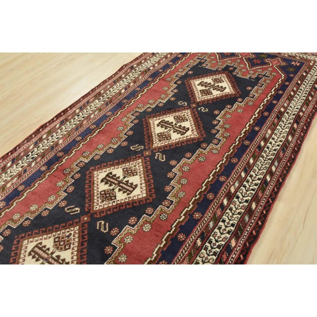 Textile Persian Afshar Runner - 3'5'' X 9'3'' For Sale - Image 7 of 13