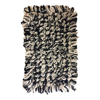 Black & White Mexi Chic Loop Rug Mat - 2′5″ × 3′5″ For Sale