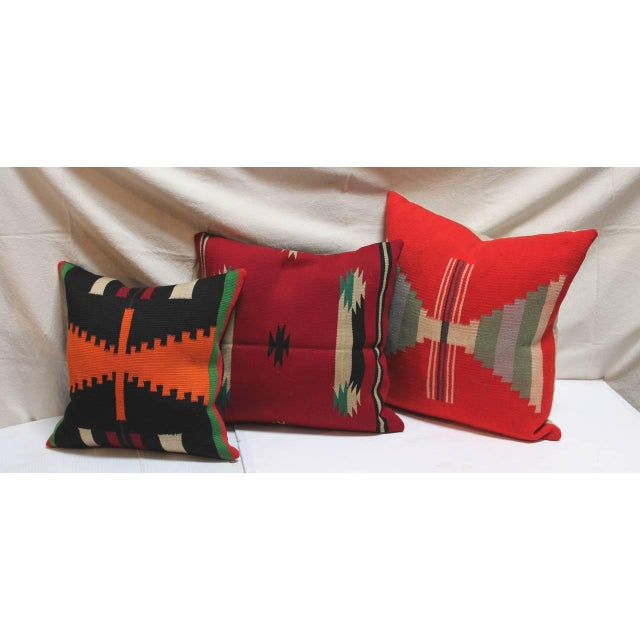 Group of Three Rare Germantown Indian Weaving Pillows - Image 2 of 7