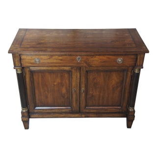 Henredon Acquisitions Neoclassical Mahogany Door Server For Sale