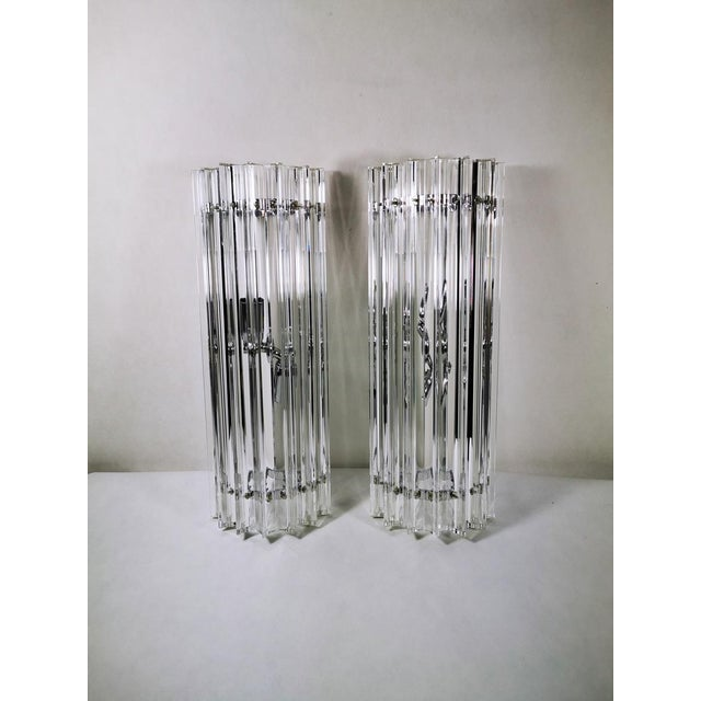 Murano 20th Century Tryedal Sconces - a Pair For Sale - Image 9 of 9