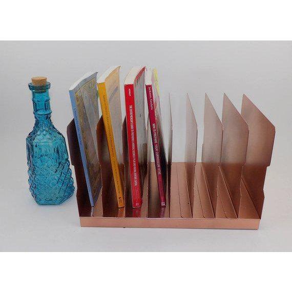 Contemporary Rose Gold Desk Organizer / Mail Sorter For Sale - Image 3 of 8