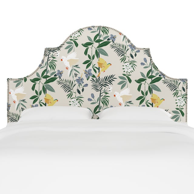 Classic curves wrapped in smooth upholstery, then accented with elegant ornamental nailheads, gives this Upholstered...