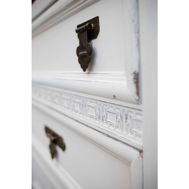 Dixie Antique White Shangri-La 6-Drawer Dresser For Sale - Image 5 of 10