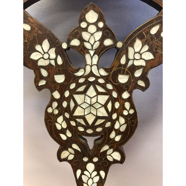 Mother-of-Pearl Antique Mother-Of-Pearl Inlay Savonarola Chair For Sale - Image 7 of 13