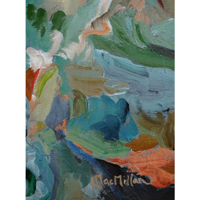 "2010s Original ""Beckoning"" Abstract Landscape Painting by Laurie MacMillan For Sale - Image 5 of 6"