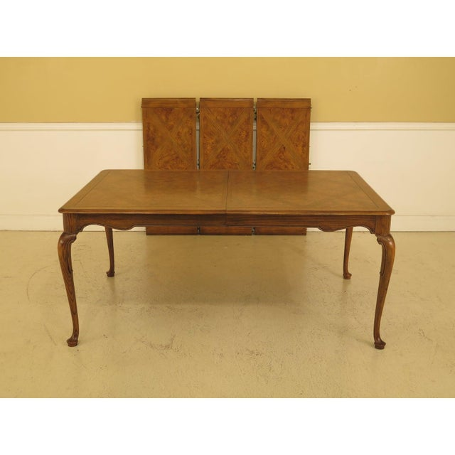 1970s Queen Anne Baker Walnut & Oak Dining Room Table For Sale In New York - Image 6 of 12