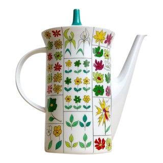 Vintage Floral Rosenthal Baumann Teapot, Studio Line Germany For Sale