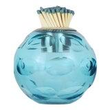 Image of Glass Match Striker, Blue For Sale